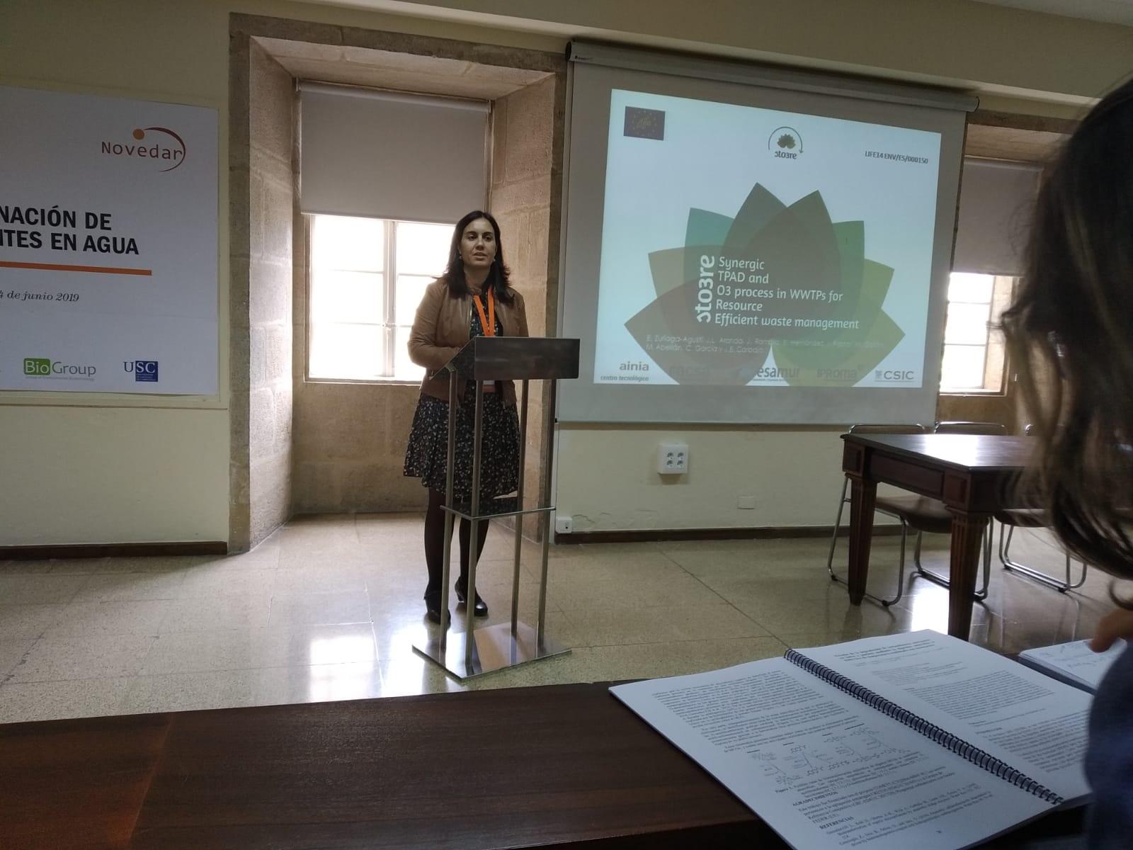 Participation in the Symposium of Microcontaminants of the Novedar network in Santiago de Compostela